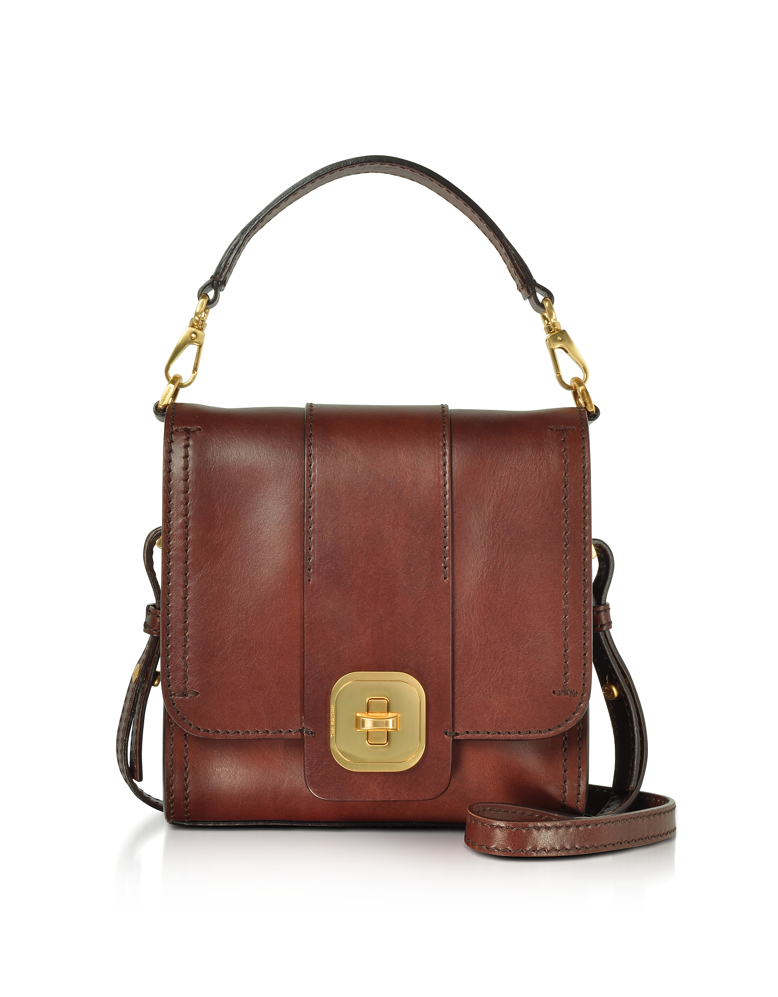 The Bridge Handbags, Genuine Leather Top Handle Crossbody Bag