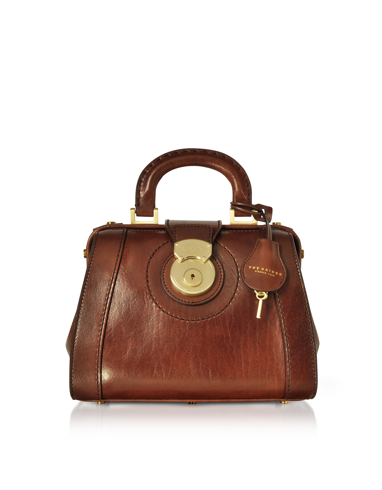 THE BRIDGE Rufina Small Leather Doctor Bag in Brown