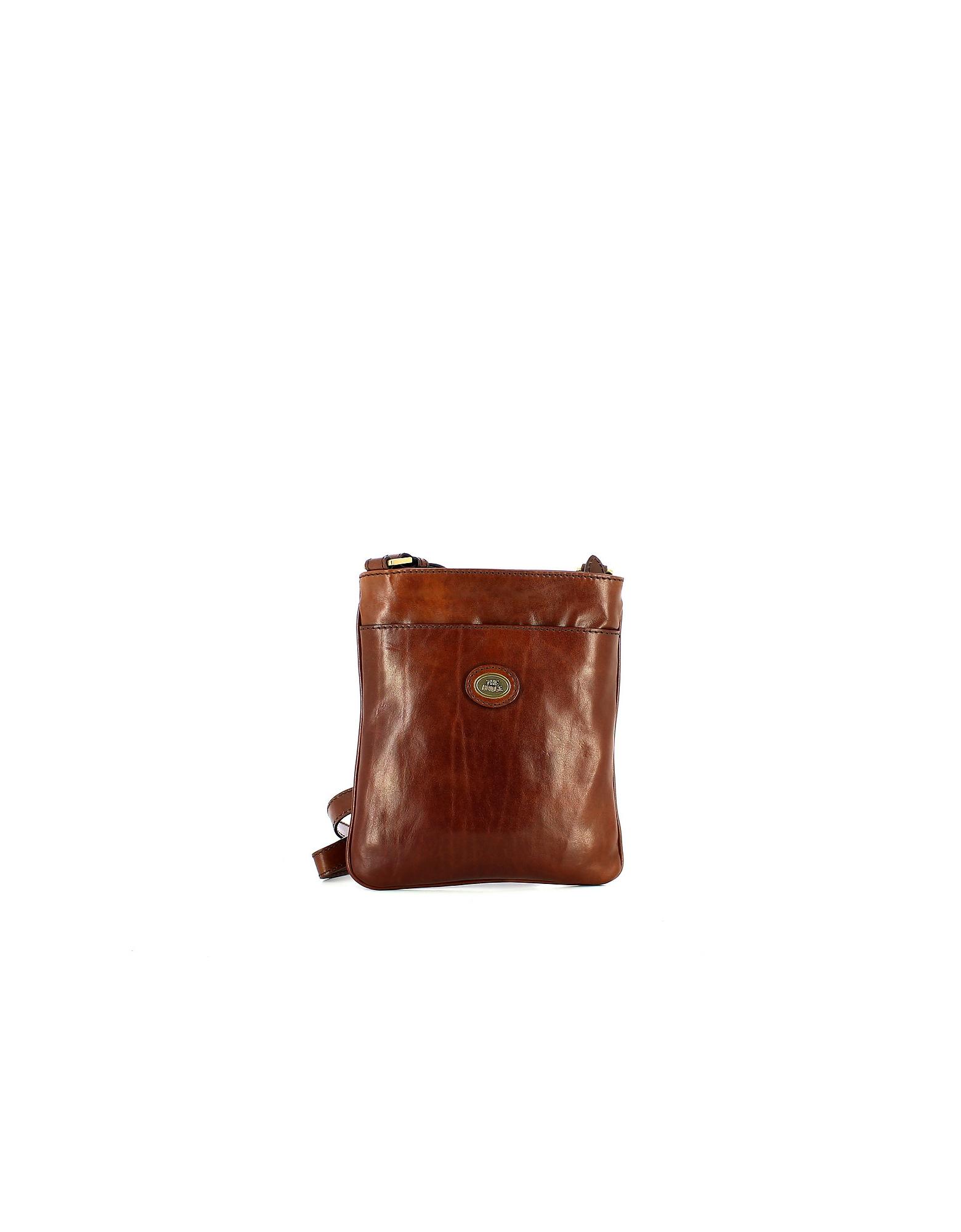 The Bridge Designer Men's Bags, Brown Story Uomo Crossbody Bag