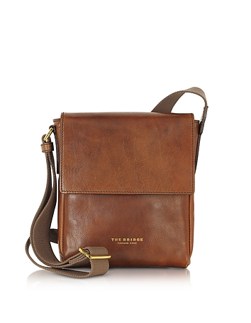 Sfoderata Marrone Leather Men's Crossbody Bag