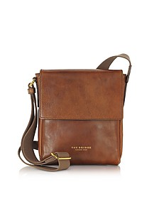 Sfoderata Marrone Leather Men's Crossbody Bag - The Bridge