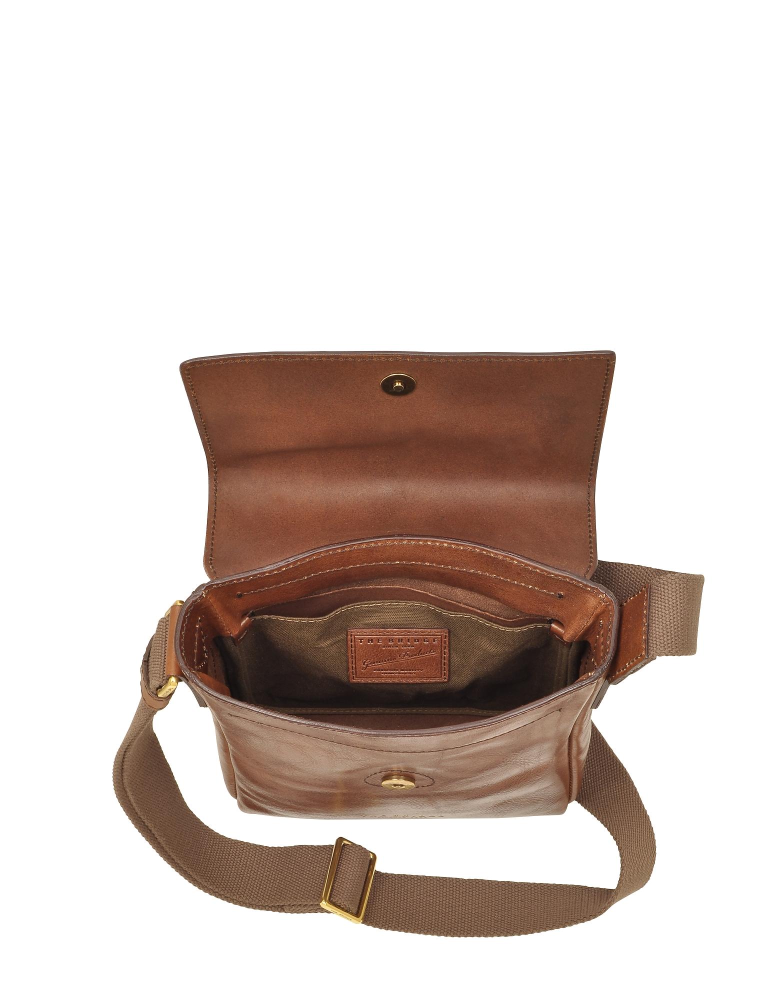 Sfoderata Marrone Leather Men's Crossbody Bag от Forzieri.com INT