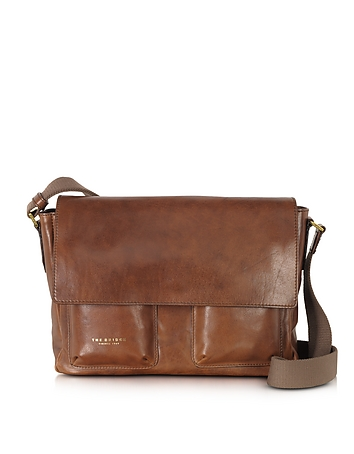 The Bridge - Sfoderata Marrone Leather Messenger W/ Pockets