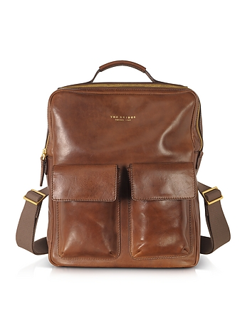 Sfoderata Marrone Leather Backpack