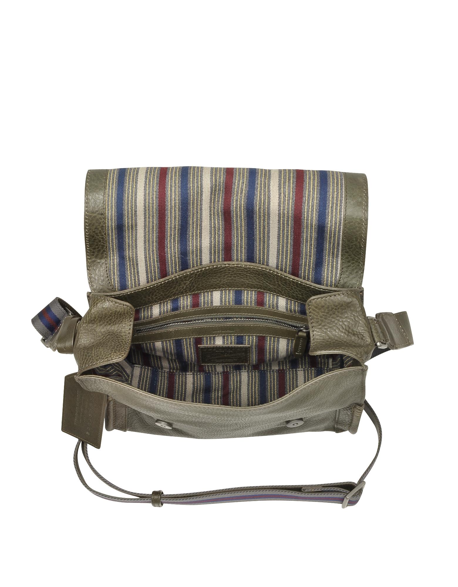 Ascott Olive Green Leather Messenger Bag от Forzieri.com INT