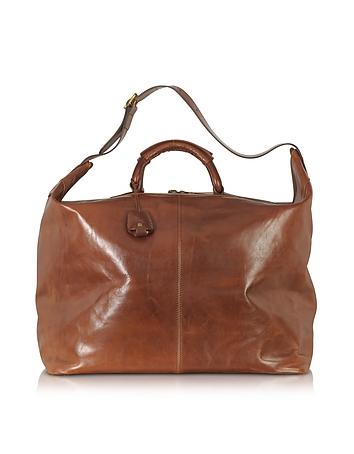 The Bridge - Story Viaggio Marrone Leather Weekender Bag