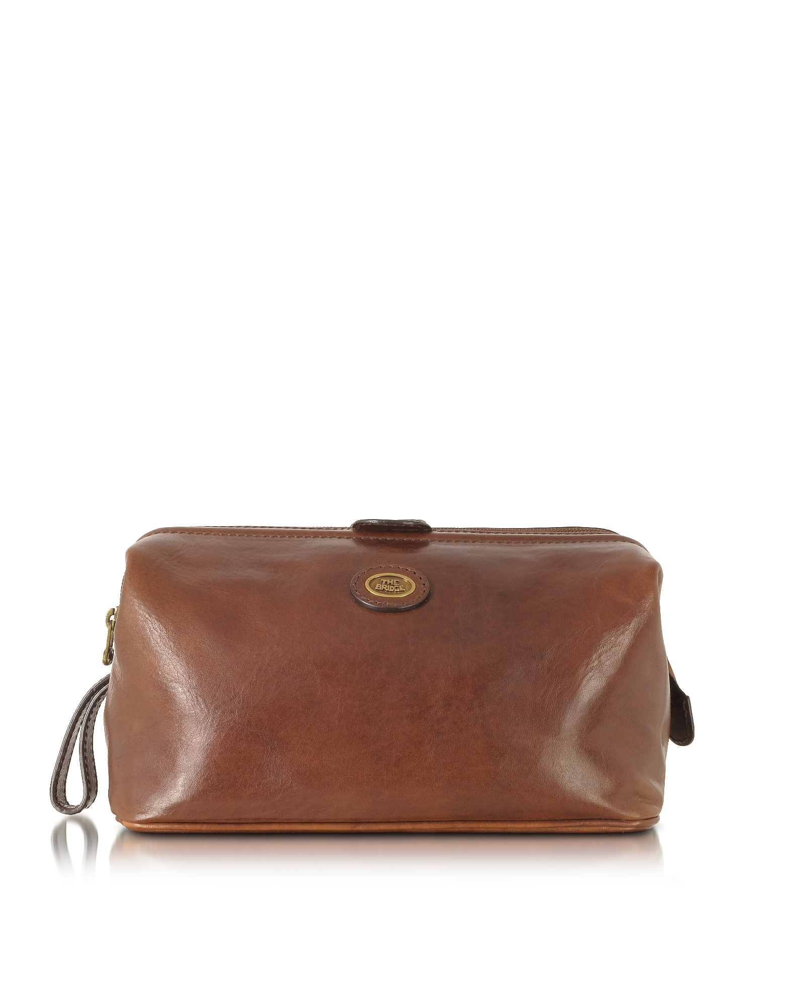 The Bridge Travel Bags, Story Viaggio Marrone Leather Beauty Case