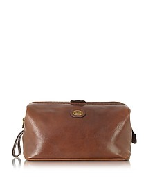 Story Viaggio Marrone Leather Beauty Case - The Bridge