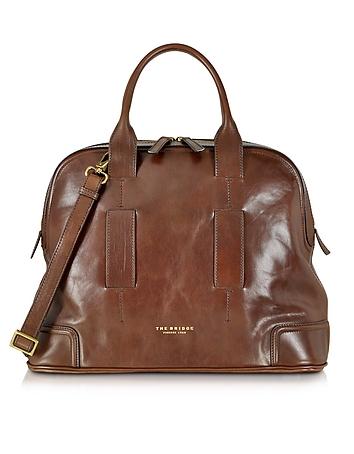 The Bridge - Cosmopolitan Brown Leather Travel Bag