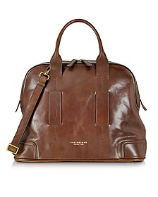 Cosmopolitan Brown Leather Travel Bag - The Bridge