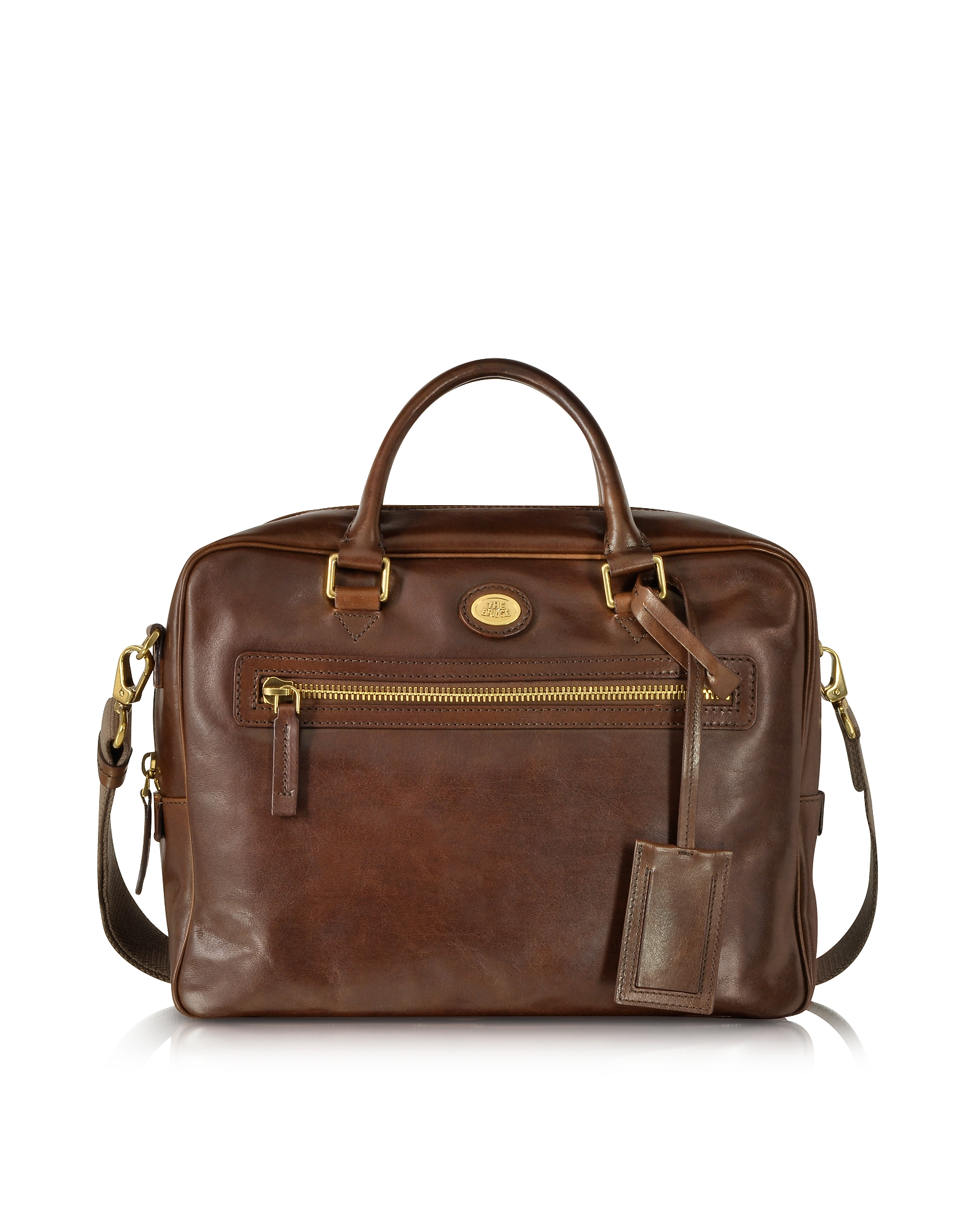 The Bridge Briefcases, Story Uomo Dark Brown Leather Briefcase