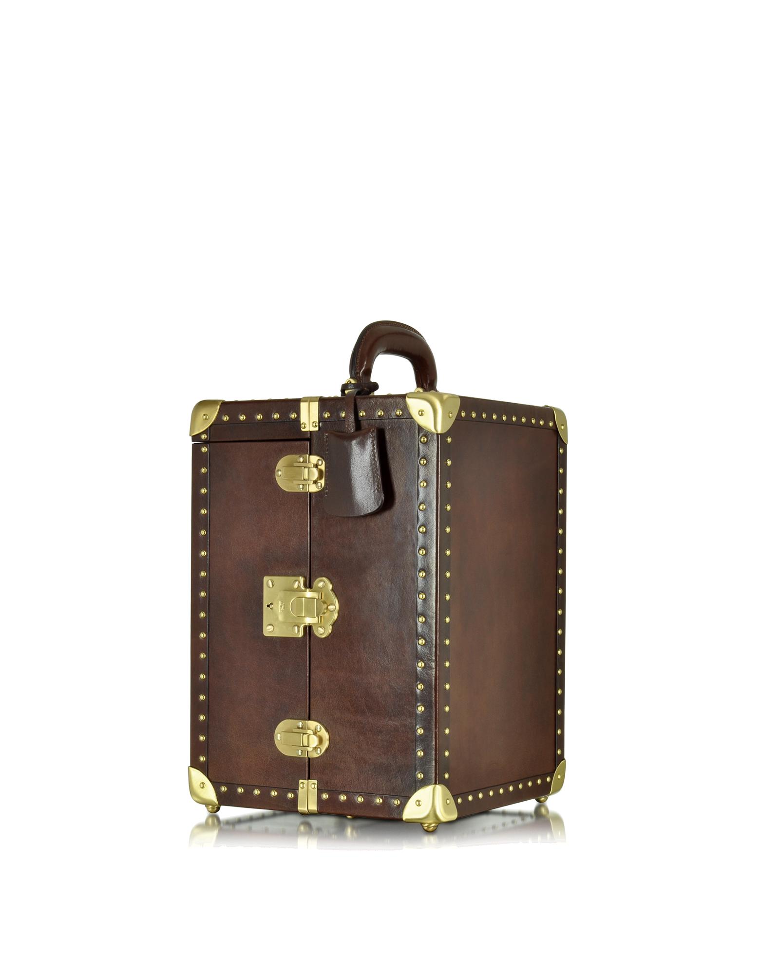 Image of Dark Brown Leather Jewelry Box