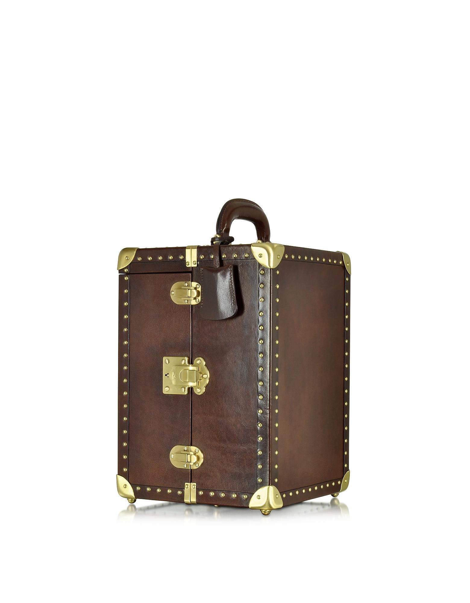 The Bridge Jewelry Boxes, Dark Brown Leather Jewelry Box