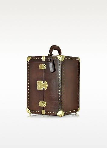 Dark Brown Leather Jewelry Box - The Bridge