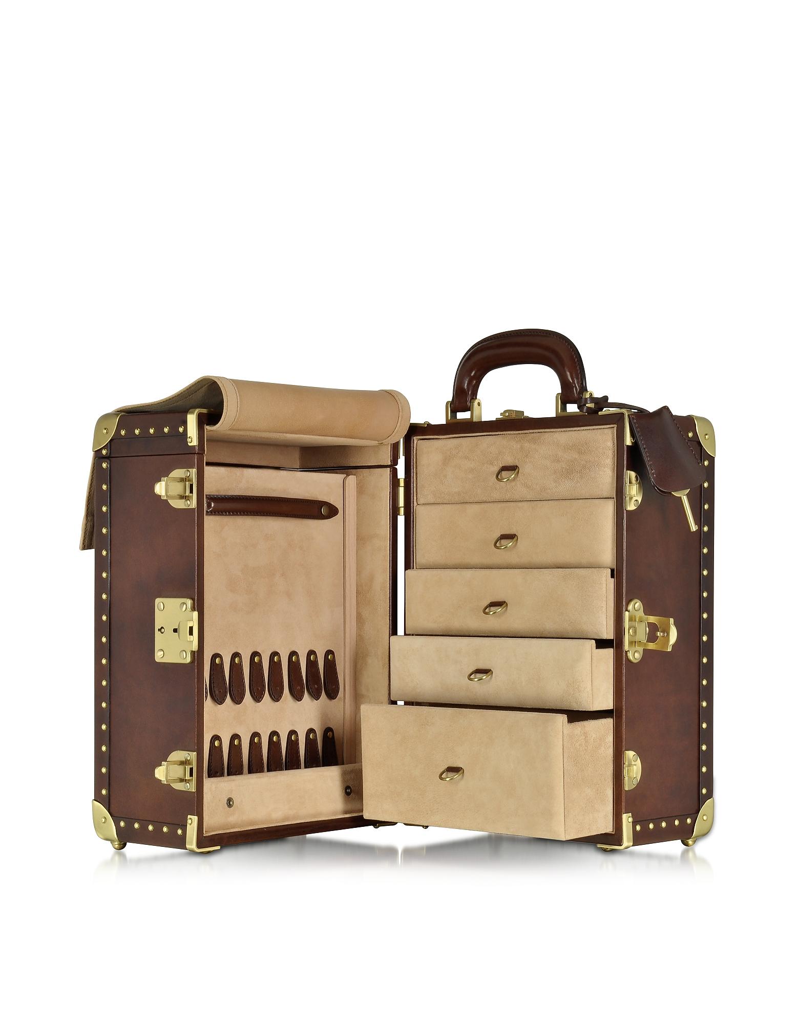 Dark Brown Leather Jewelry Box от Forzieri.com INT