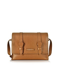 Embossed Leather Messenger - The Bridge