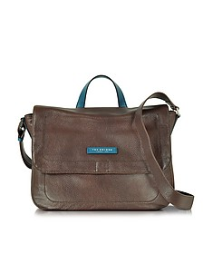 Plume Mix Uomo Dark Brown Leather Reporter Bag - The Bridge