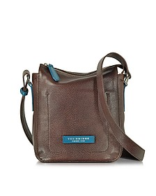 Plume Mix Uomo Dark Brown Leather Crossbody Bag - The Bridge