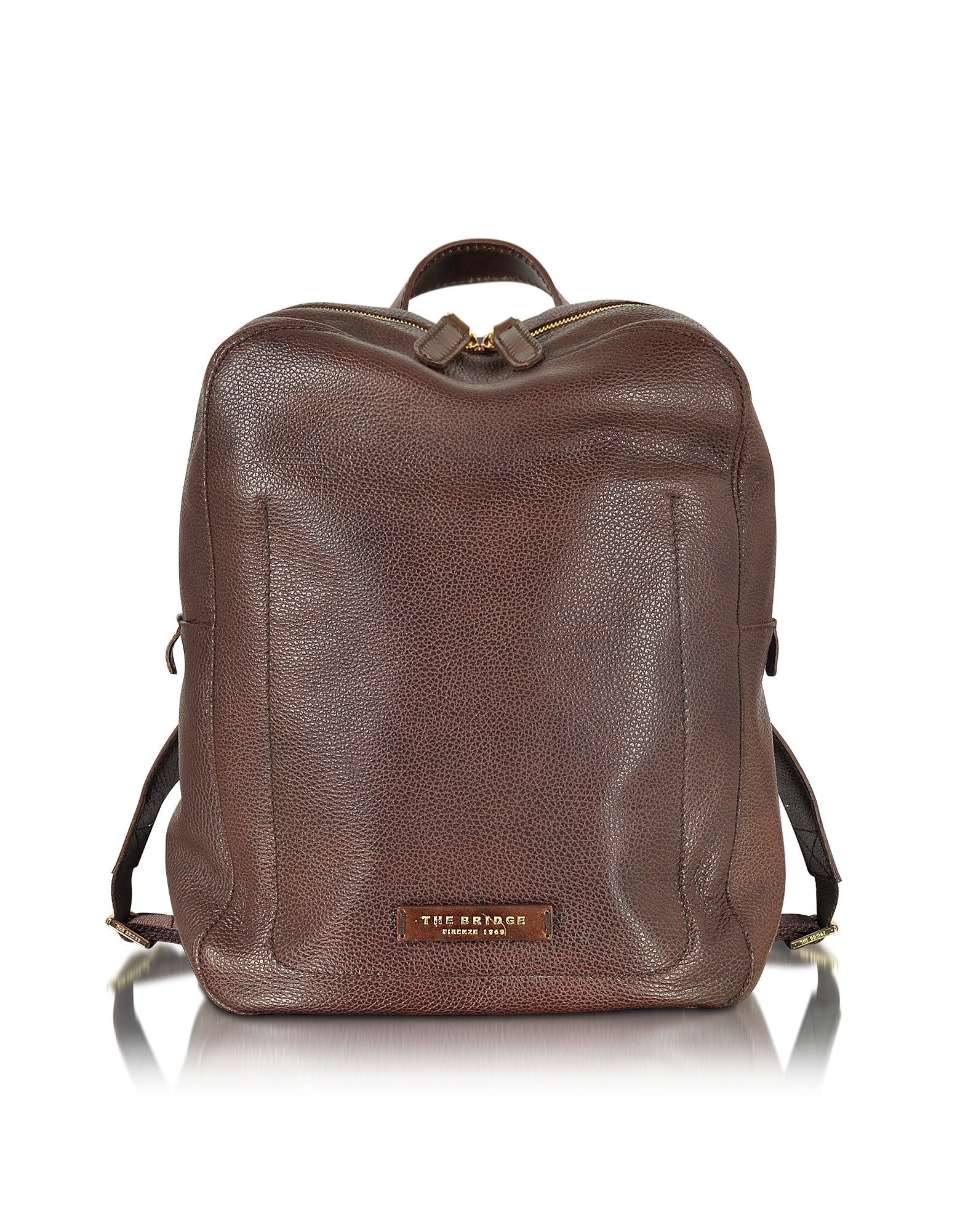 Image of The Bridge Designer Backpacks, Plume Dark Brown Leather Men's Backpack