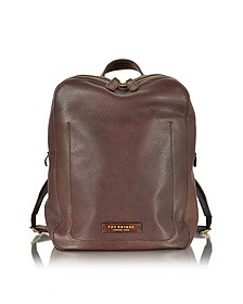 Plume Dark Brown Leather Men's Backpack - The Bridge