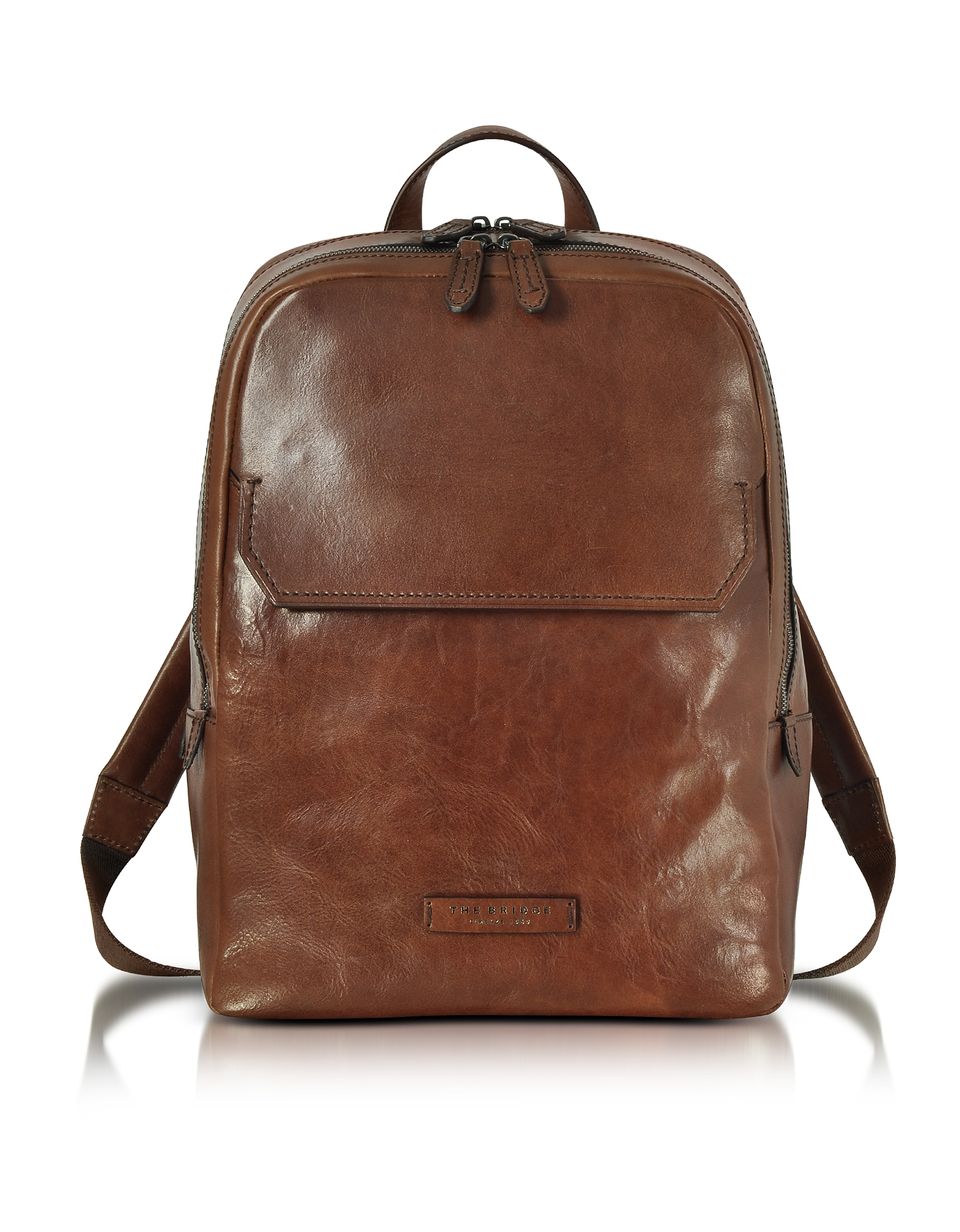 Image of The Bridge Designer Backpacks, Marrone Leather Men's Backpack