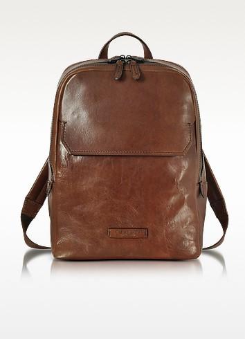 Marrone Leather Men's Backpack - The Bridge