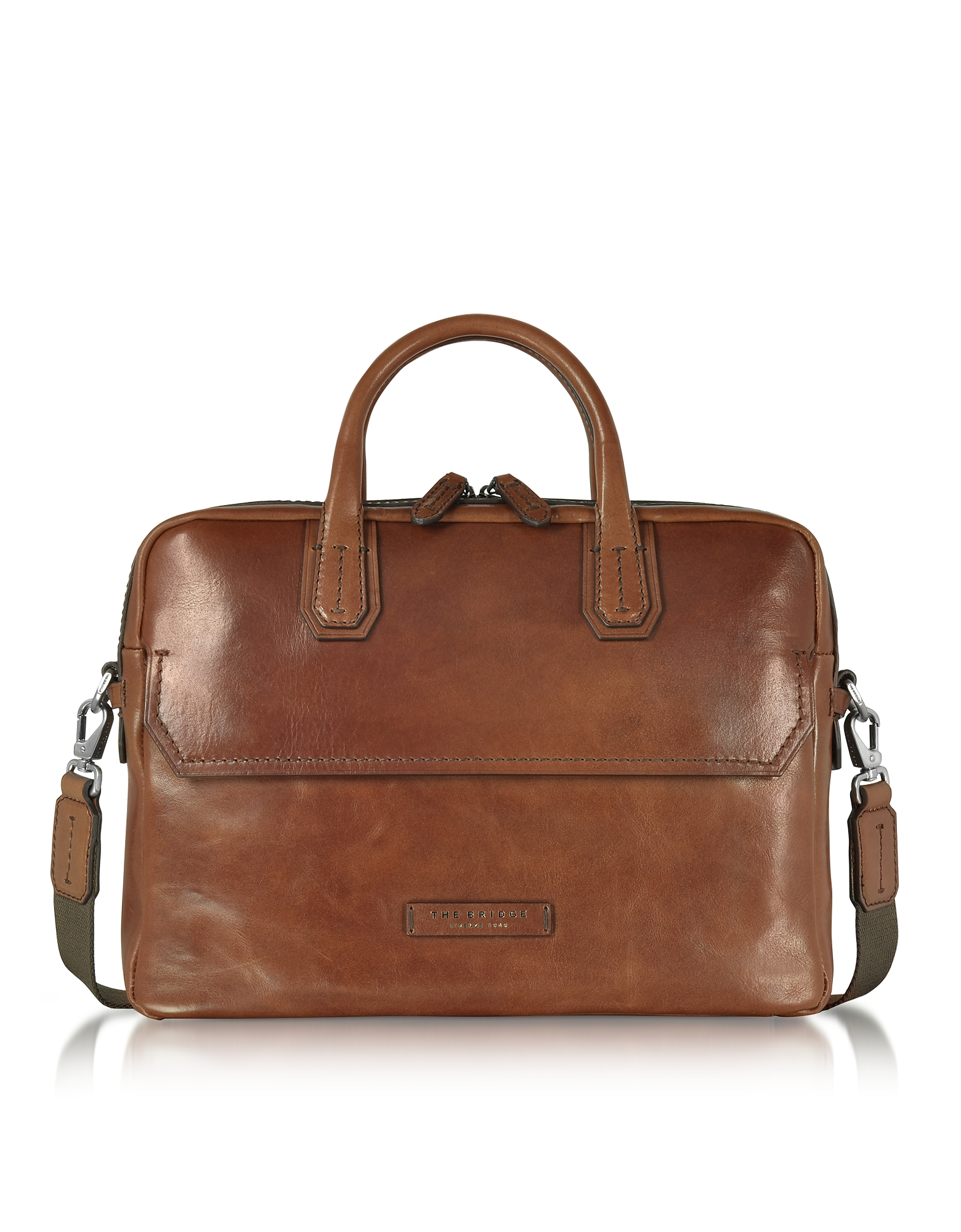 The Bridge Briefcases, Dark Brown Double Handle Briefcase