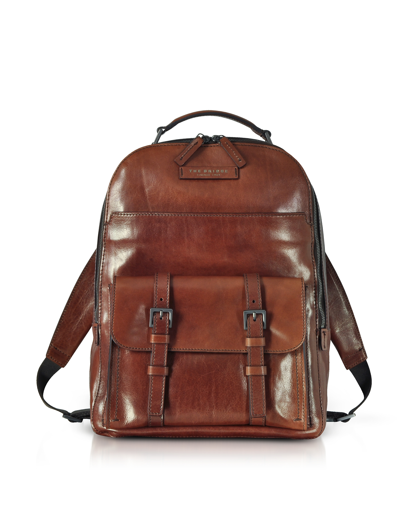 Image of The Bridge Designer Backpacks, Byron Brown Leather Men's Backpack