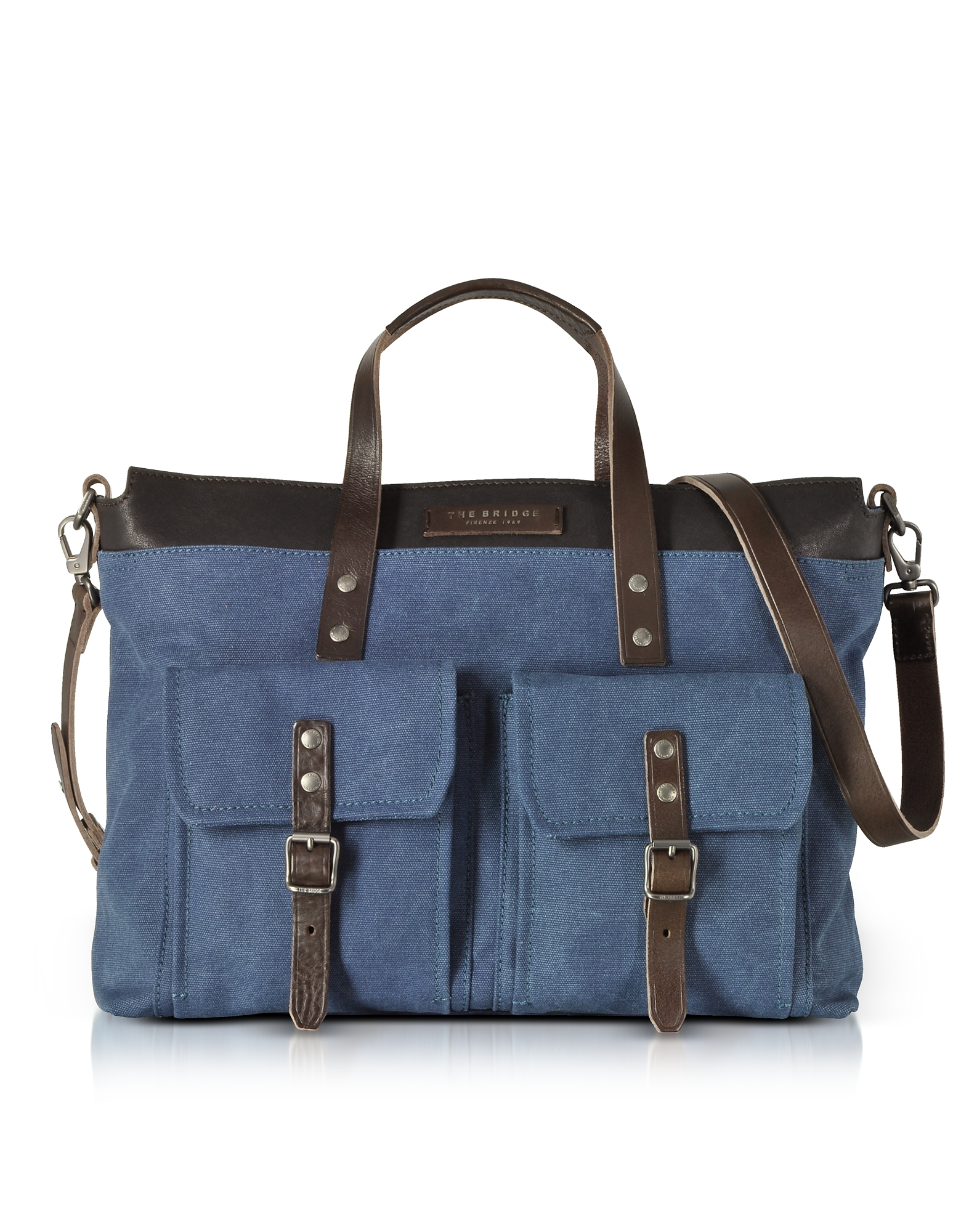 Carver-D Canvas and Leather Men's Tote Bag
