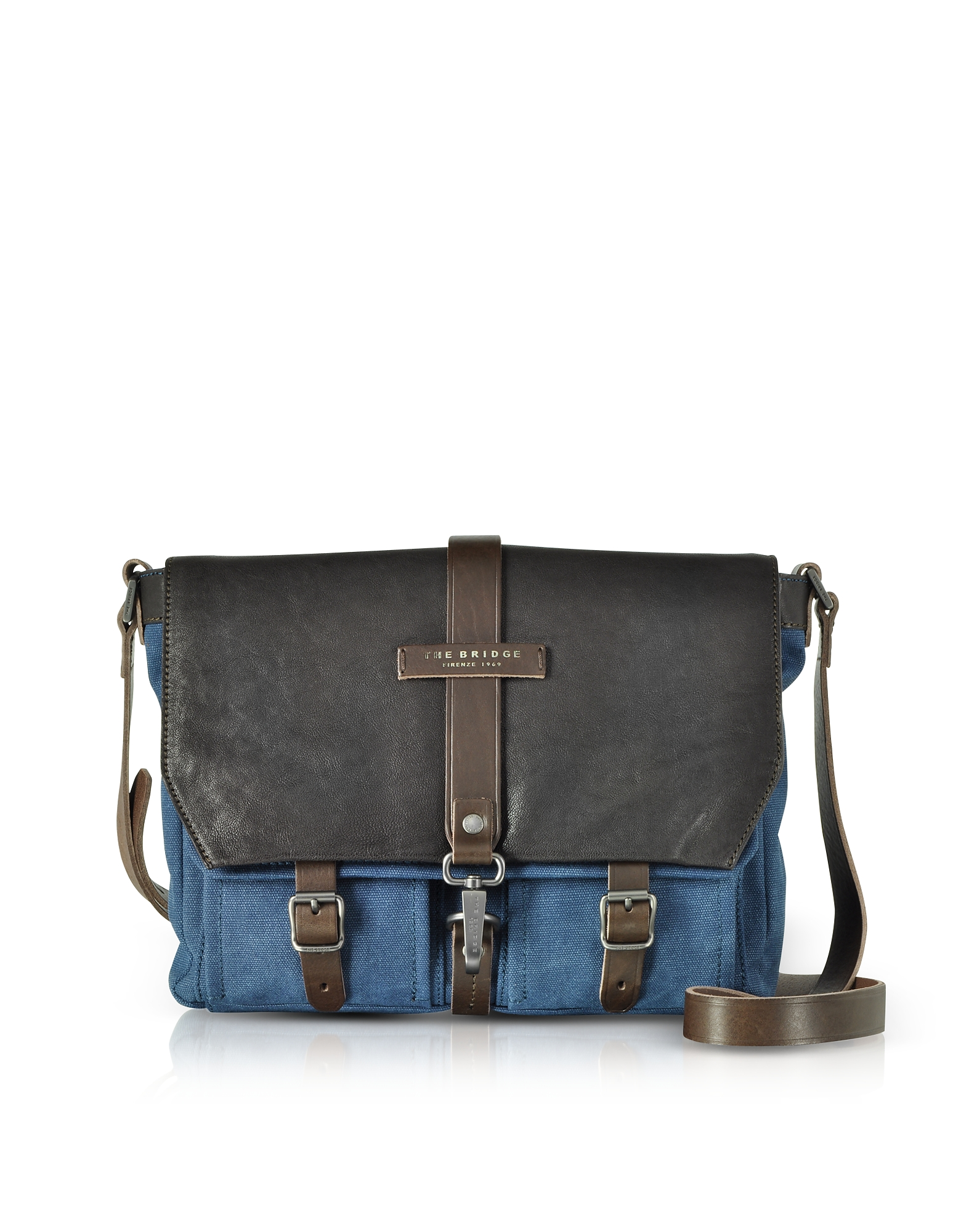 Carver-D Messenger Bag in Canvas e Pelle