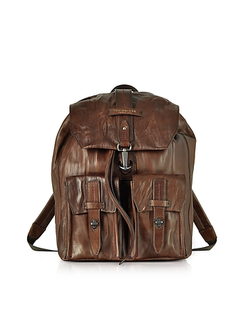 Washed Calf Leather Backpack