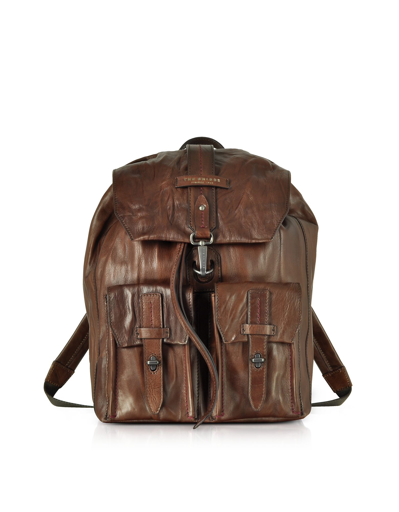 Image of The Bridge Designer Backpacks, Washed Calf Leather Backpack