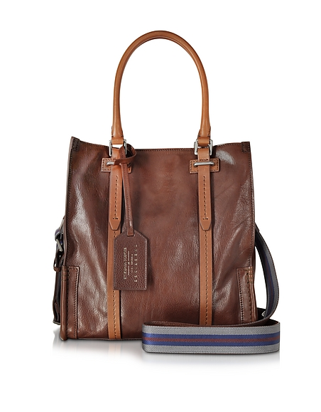 Foto The Bridge Ascott Marrone Shopper Piccola in Pelle Borse Uomo