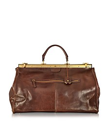 Story Viaggio Marrone Leather Travel Bag - The Bridge