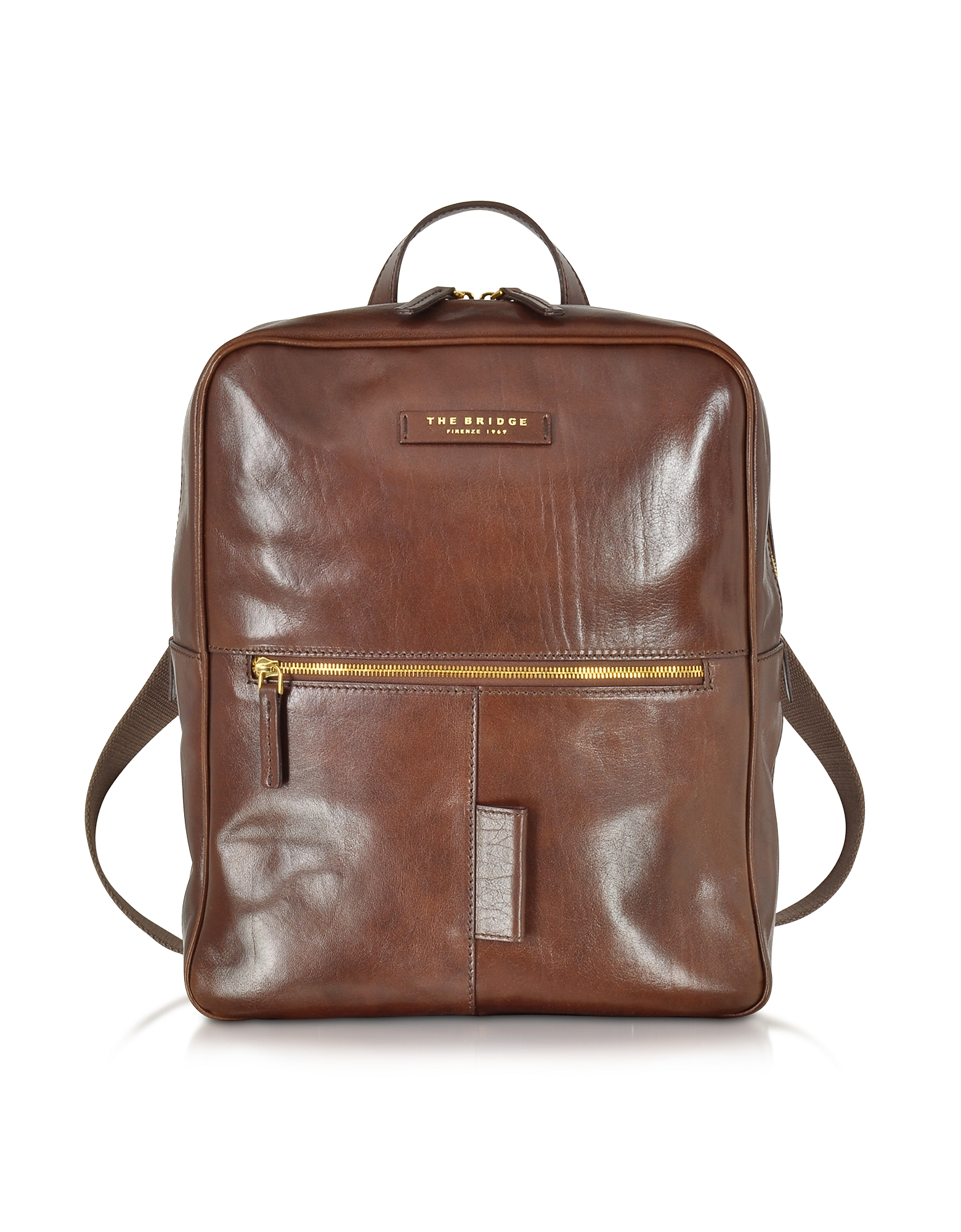 Image of The Bridge Designer Backpacks, Passpartout Marrone Leather Backpack