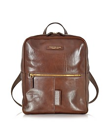 Passpartout Marrone Leather Backpack - The Bridge