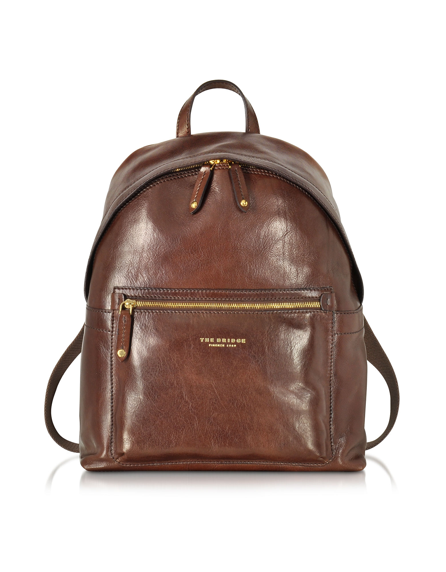 The Bridge Backpacks, Sfoderata Lux Uomo Marrone Leather Backpack