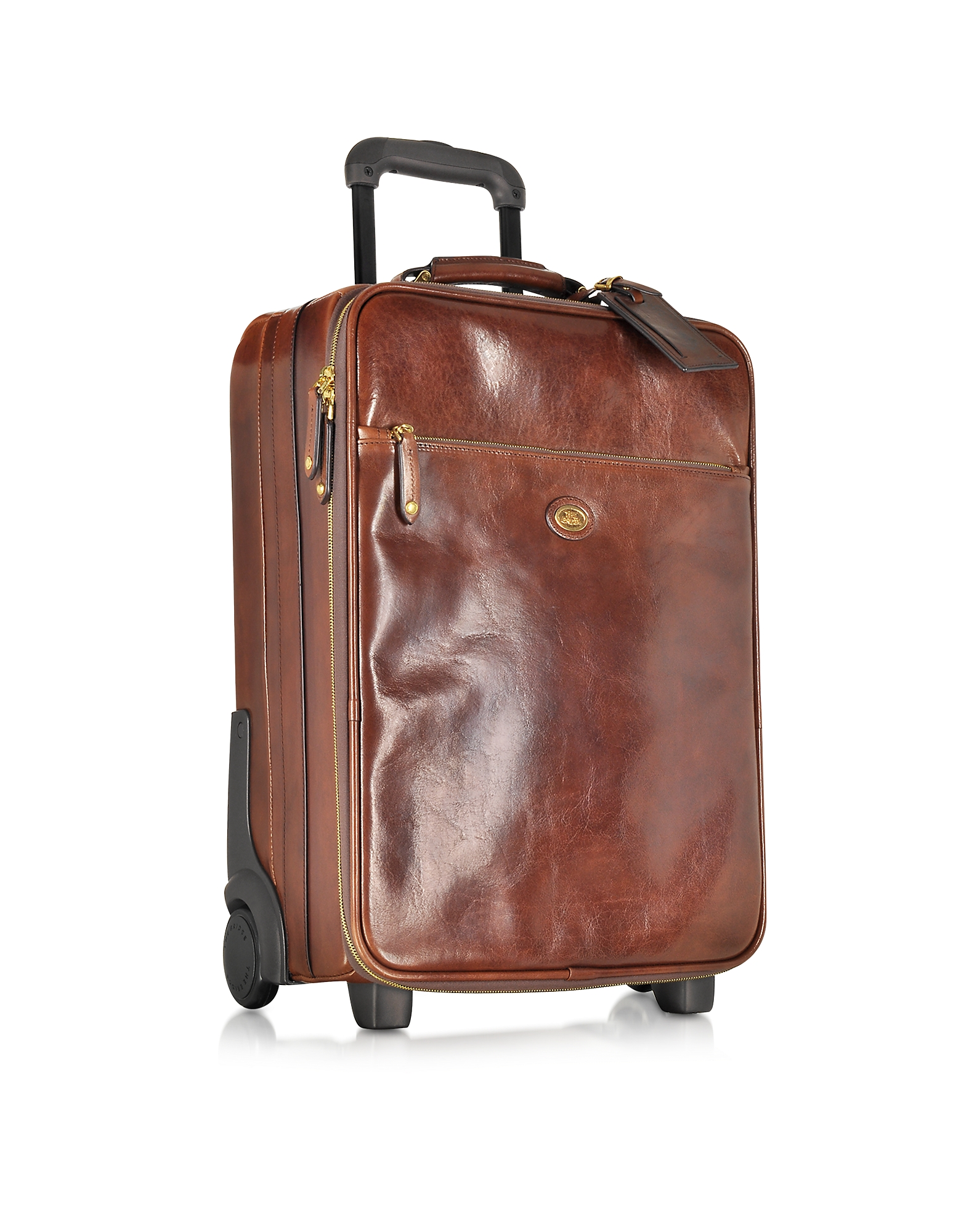 The Bridge Travel Bags, Story Viaggio Marrone Leather Trolley