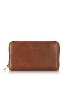 Story Donna Leather Women's Zip Around Wallet - The Bridge