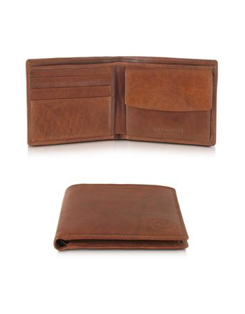 Lux-ID 212439 Story Uomo Leather Billfold Wallet w/Coin Pocket