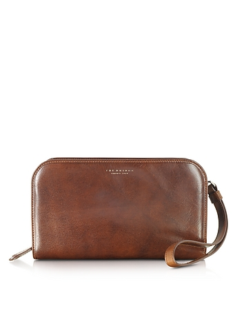The Bridge - Jade Brown Leather Men's Wallet/Clutch
