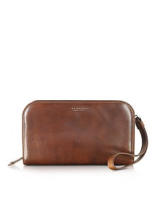 Jade Brown Leather Men's Wallet/Clutch - The Bridge