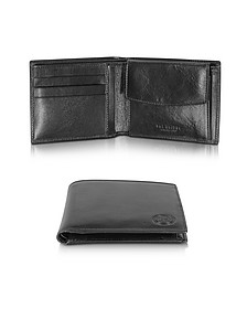 Story Uomo Black Leather Wallet w/Coin Pocket - The Bridge
