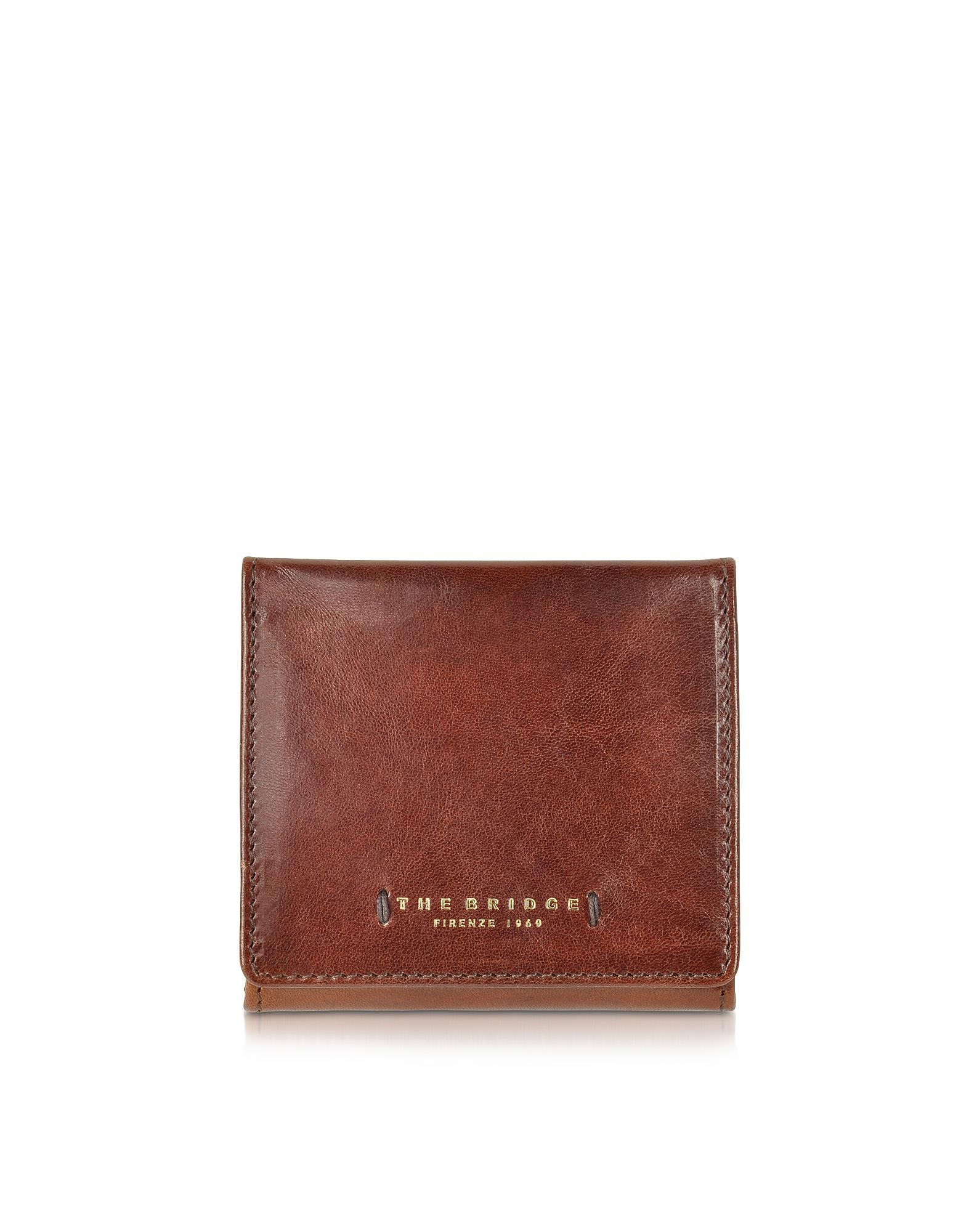 Темно-коричневый Кожаный Бумажник с Карманом для Монет