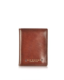 Dark Brown Leather Card Holder - The Bridge