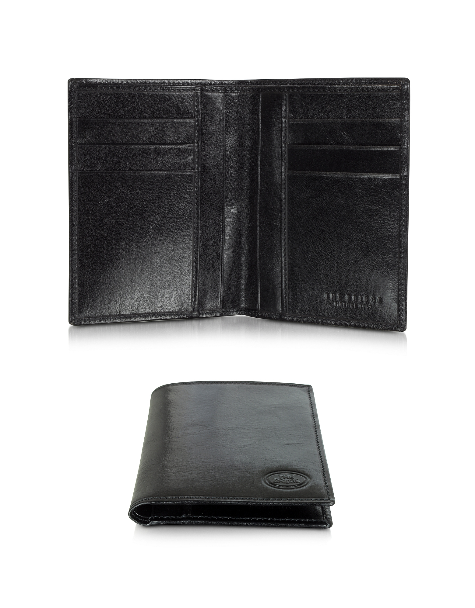 The Bridge Wallets, Story Uomo Dark Brown Leather Men's Vertical Wallet