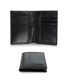 Story Uomo Dark Brown Leather Men's Vertical Wallet - The Bridge