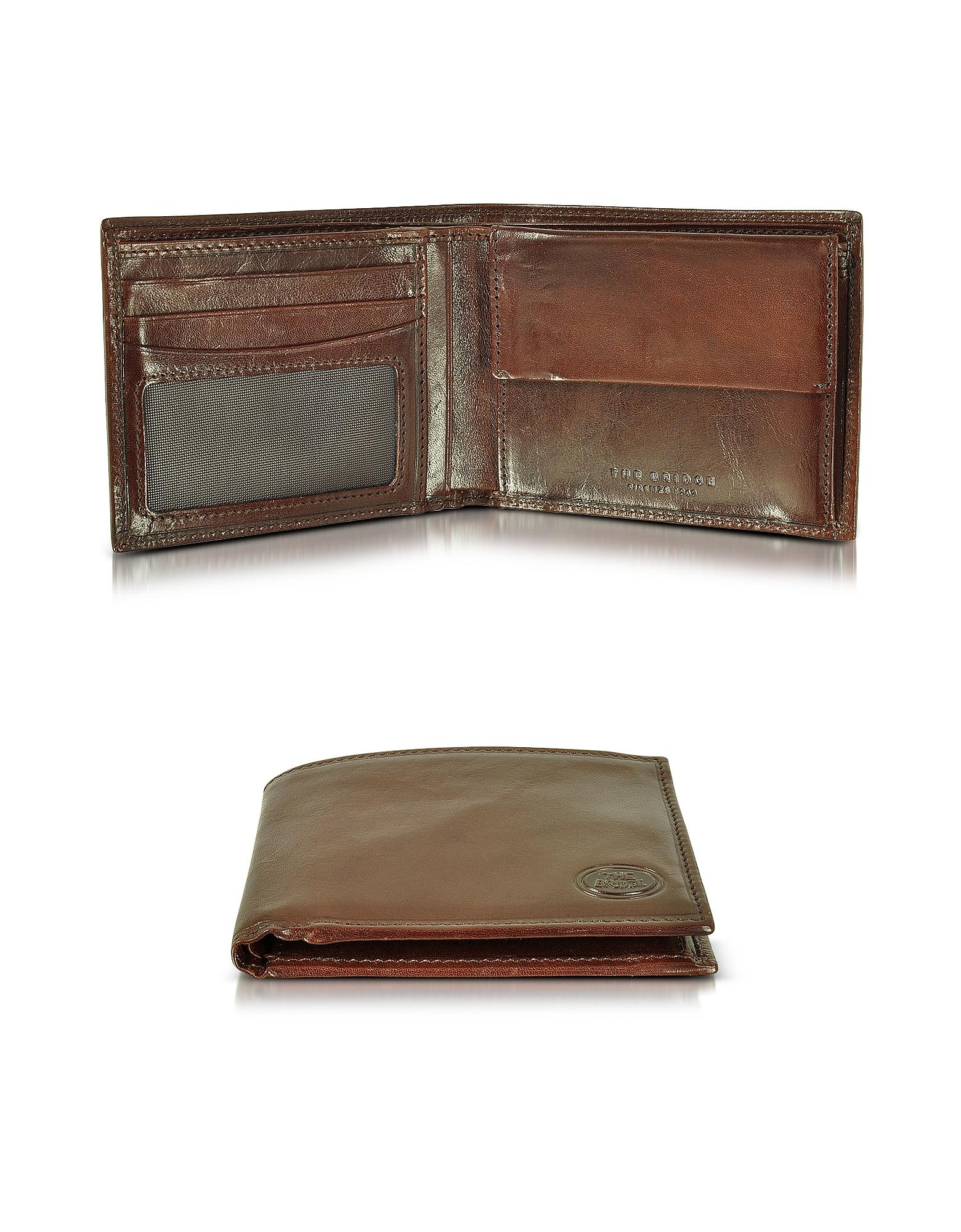 The Bridge Story Uomo - Темно-коричневый Мужской Бумажник с Карманом для Монет