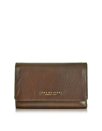 The Bridge - Passpartout Donna Dark Brown Leather Women's Wallet