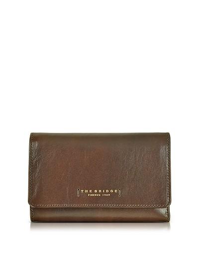 Passpartout Donna Dark Brown Leather Women's Wallet - The Bridge